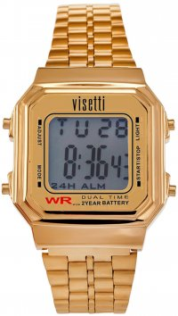 Visetti  Visetti Retro Series digital gold steel unisex watch RI-007G