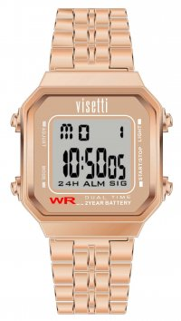 Visetti  Visetti Retro Series digital rosegold steel unisex watch RI-007RG